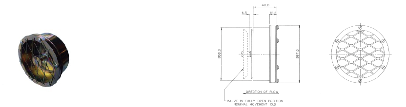 DH/D6001 - Flange Mounted Outward Relief Valve