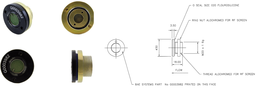 DH/D8531 - M20 Thread Outward Relief Valve