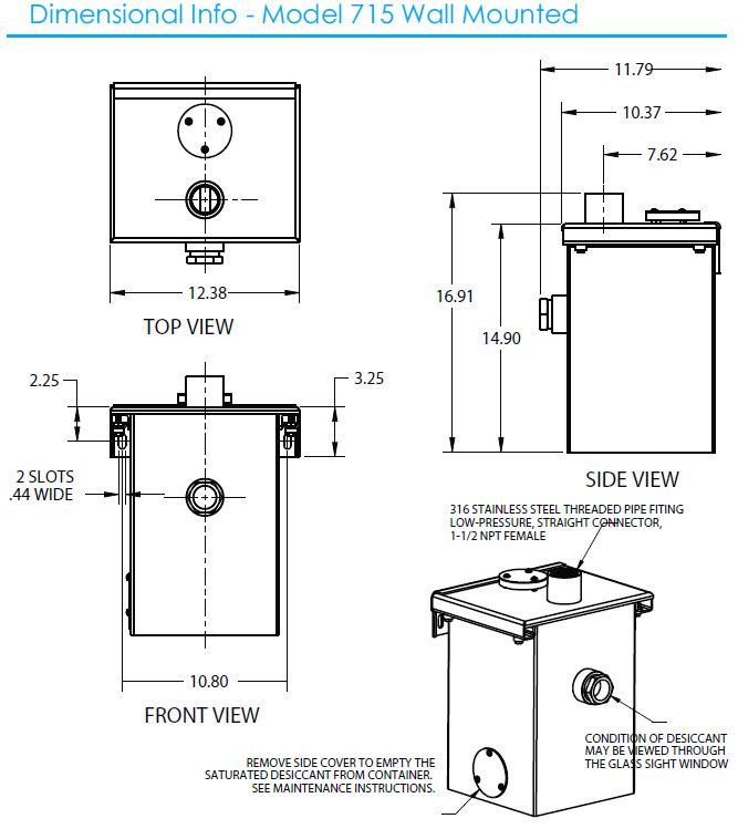Model 715 Dimensional Info